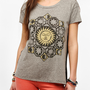 Urban Outfitters - Truly Madly Deeply Magic Eclipse Mesh-Back Tee
