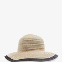Colorblocked Straw Sun Hat