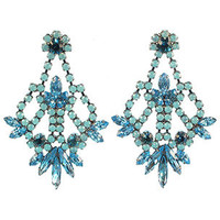 Elizabeth Cole Mini Indira Earrings - Light Blue | Rain Collection