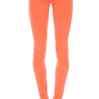 Colored Skinny Jeans in Orange :: tobi