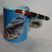 Coffee mug - fish fishiing by Five and Dime 1992 - Father's Day