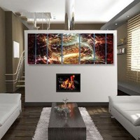 "Abstract by Ash Carl Metal Wall Art in Black - 23.5"" x 60"""