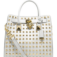 MICHAEL Michael Kors  Large Hamilton Pyramid-Stud Tote