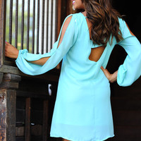 Jewel Be Memorized Dress: Light Teal | Hope&#x27;s
