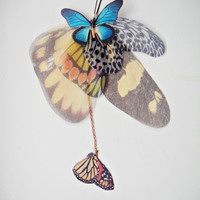 Big Wings Fluttery Cluster Earring Statement piece by jewelera