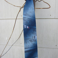 70s/80s Sky Blue Tie by Town Craft // Vintage Tie