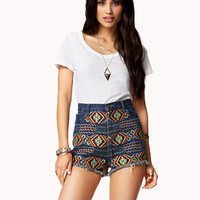 High-Waisted Boho Cut Offs | FOREVER 21 - 2076447696