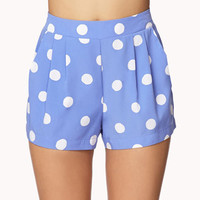 Pleated Polka Dot Shorts | FOREVER 21 - 2028363193