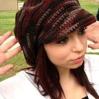 Newsboy Hat with Visor - Crochet Newsgirl Hat - Brimmed Crochet Hat - GabysSchaufenster - Mothers Day