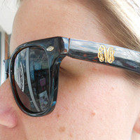Monogram Sunglass font shown INTERLOCKING