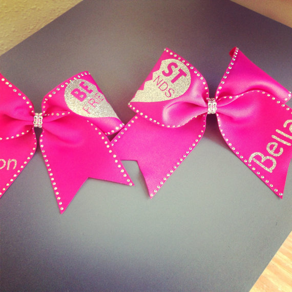 Best Friend Cheer Bows With Bling From Cheerbowdiva On Etsy