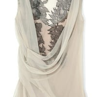 Two-Tone Cowl Neck Wrap Blouse by Alberta Ferretti Now Available on Moda Operandi