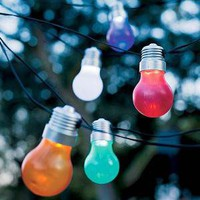 Light Bulb Solar Lights - Plow  Hearth