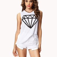 Round Cut Diamond Muscle Tee