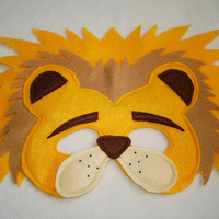 Children's LION Felt Animal Mask