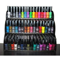 All About Nail 50 Piece Color Nail Lacquer Combo Set + 6 Sets of Fruit Scented Nail Polish Remover
