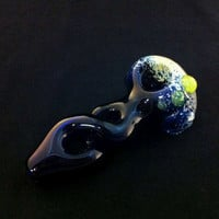 Cobalt Glass Pipe Twister Frit Encasement by IllustratedSquare