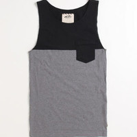 Vans Burke Black Gravel Tank at PacSun.com