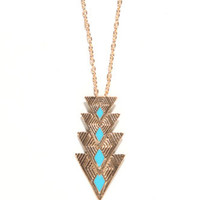 With Love From CA Downward Arrow Turquoise Necklace at PacSun.com