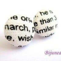 Words stud earrings by Bijunea on Etsy