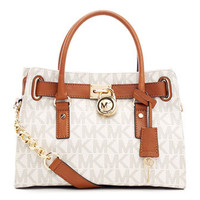 MICHAEL Michael Kors  Hamilton Logo Satchel