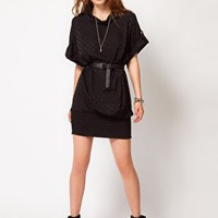 Dr Denim Caroline High Neck Dress at asos.com
