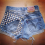 Studded Rockstar Shorts by PeaceLoveStuds on Etsy