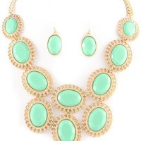 Mint Bubble Necklace