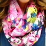 Pink Palm Springs Infinity Scarf