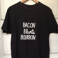 MEN'S Bacon Blunts Bourbon Tshirt or Tank