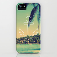 Vintage Summer Anchor iPhone & iPod Case by RexLambo