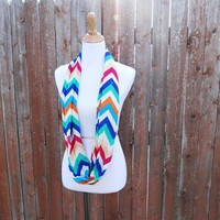 Multi-Colored Chevron Infinity Scarves from JuicyDealz