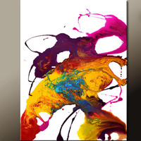 Original Abstract Canvas Art Painting 18x24 Contemporary Modern Wall Art by Destiny Womack - dWo - DANCE