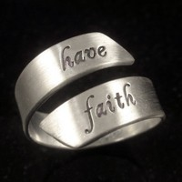Adjustable Sterling Message Ring by donnaodesigns by donnaOdesigns