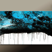 Abstract Art Huge Custom Made 60x36 on Stretched by wostudios