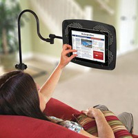Ipad Adjustable Floor Stand | Electronics & Gadgets | SkyMall