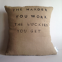 Decorative Throw Pillow  Inspirational Quote Natural by CasaAndCo