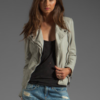 Muubaa Monteria Leather Biker Jacket in Sandstone from REVOLVEclothing.com