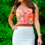 Brought Me Flowers Crop Top: Neon Pink | Hope's