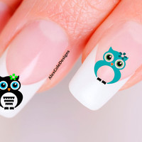 Flower Owl Nail Decals Choose Color by alex2cole on Etsy