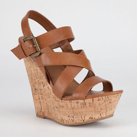 Delicious Pepper Womens Shoes Tan  In Sizes