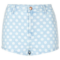 MOTO Bleach Spot Denim Hotpants - New In This Week  - New In