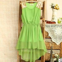 Nice High-Low Chiffon Dress