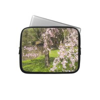 Cherry Blossom Pond Laptop Sleeve *personalize* from Zazzle.com