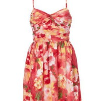 Lipsy Floral Pleated Shift Dress