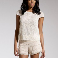 Lipsy Scallop Embellished Shorts