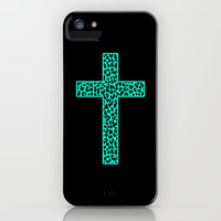 Mint Leopard Cross iPhone &amp; iPod Case by M Studio