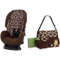 Walmart: Giraffe Bundle  - Cosco Convertible Car Seat in Quigley and Baby Boom Giraffe Print Duffle Diaper Bag