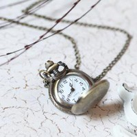 there&#x27;s a time for everything watch necklace 