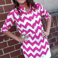 Barbie Pink Zig Zag Tunic | The Rage
